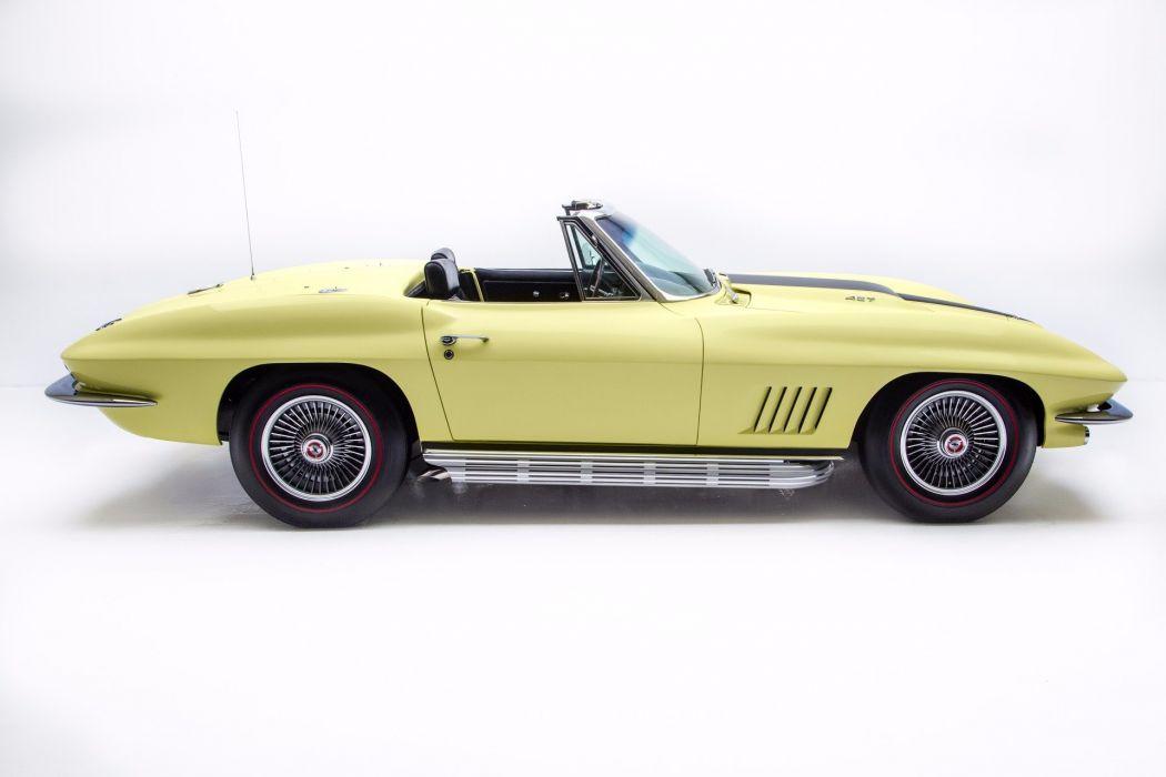 1967 chevrolet corvette 427 (c2) cars convertible yellow wallpaper