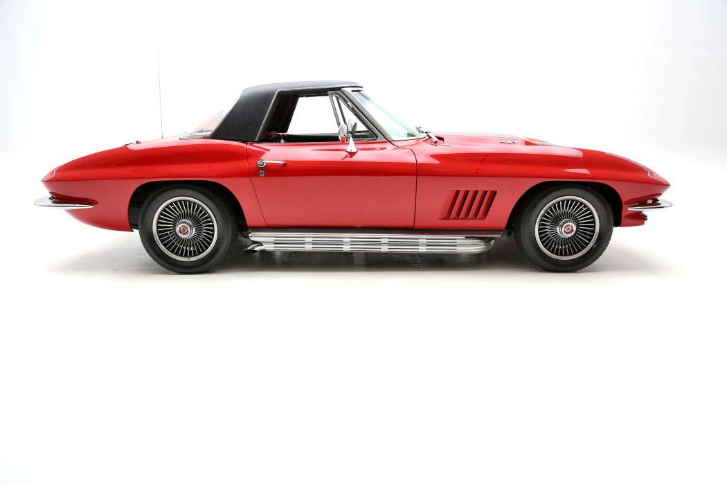 1967 chevrolet corvette 427 (c2) cars convertible red wallpaper