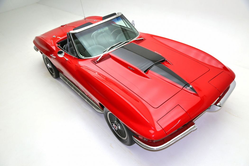 1967 chevrolet corvette 427 (c2) cars convertible red wallpaper
