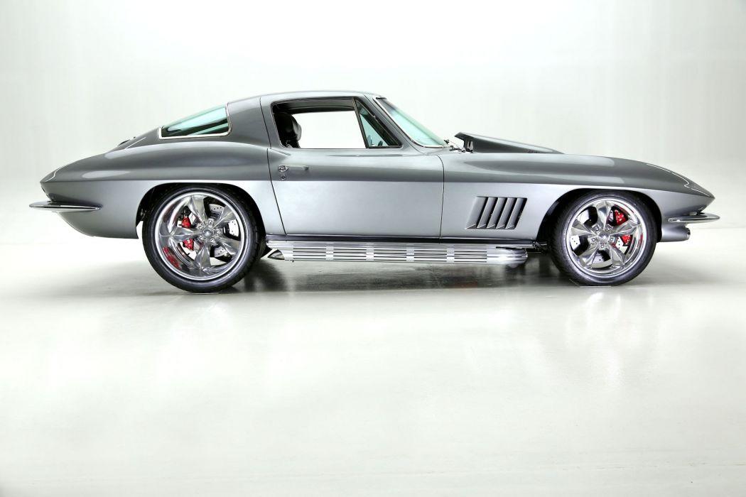 1967 chevrolet corvette 427 (c2) cars coupe silver wallpaper