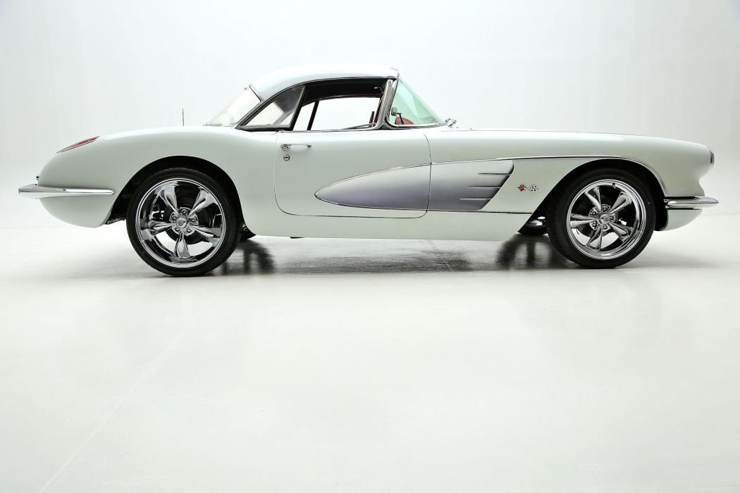1959 chevrolet corvette 383 (c1) cars convertible white wallpaper