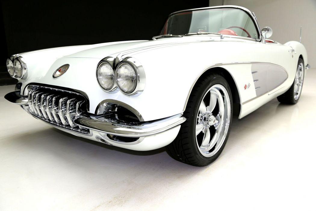 1959 chevrolet corvette 383 (c1) cars convertible white wallpaper