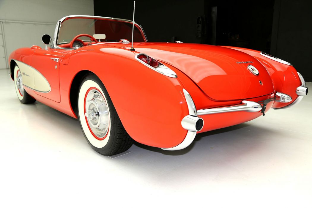 1957 chevrolet corvette 283 (c1) cars convertible red wallpaper
