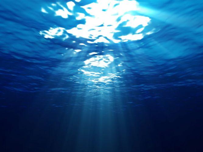 blue depth sea shine wallpaper