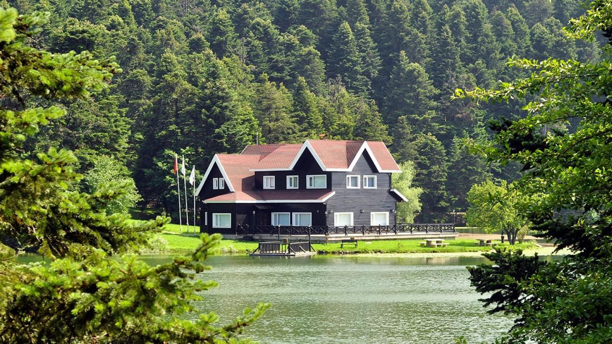 landscape golcuk bolu turkey beauty lake nature green tree forest wallpaper