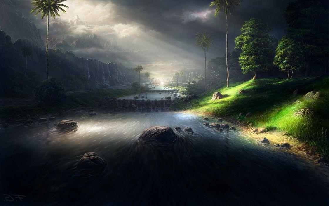 artwork fantasy Art landscape wallpaper