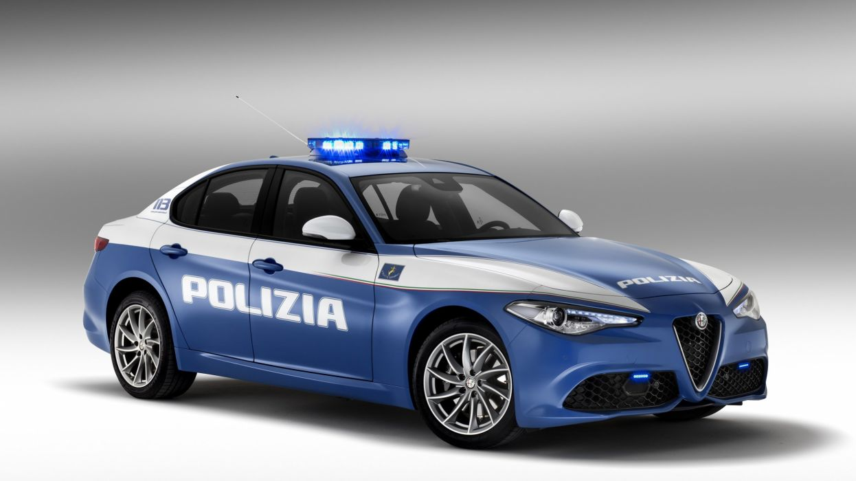 Alfa Romeo Giulia Veloce polizia cars italia wallpaper