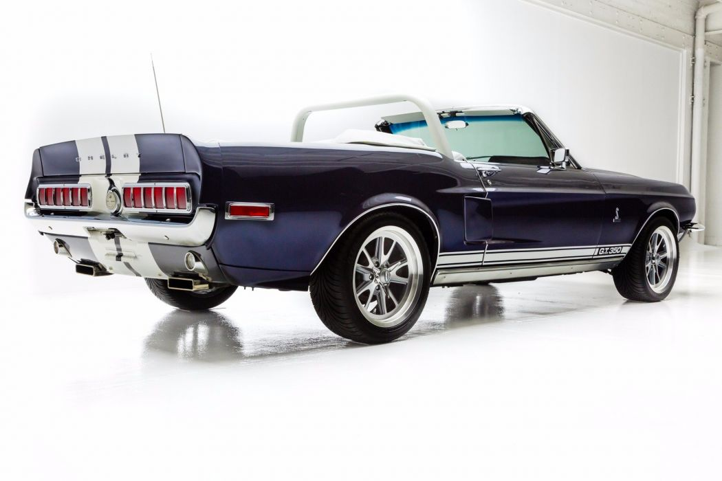 1968 ford mustang shelby convertible gt350 cars blue wallpaper