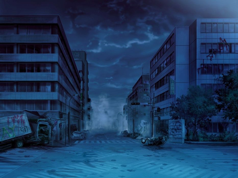 apocalyptic city night wallpaper