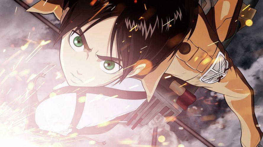 anime anime Eren Jeager Shingeki No Kyojin wallpaper