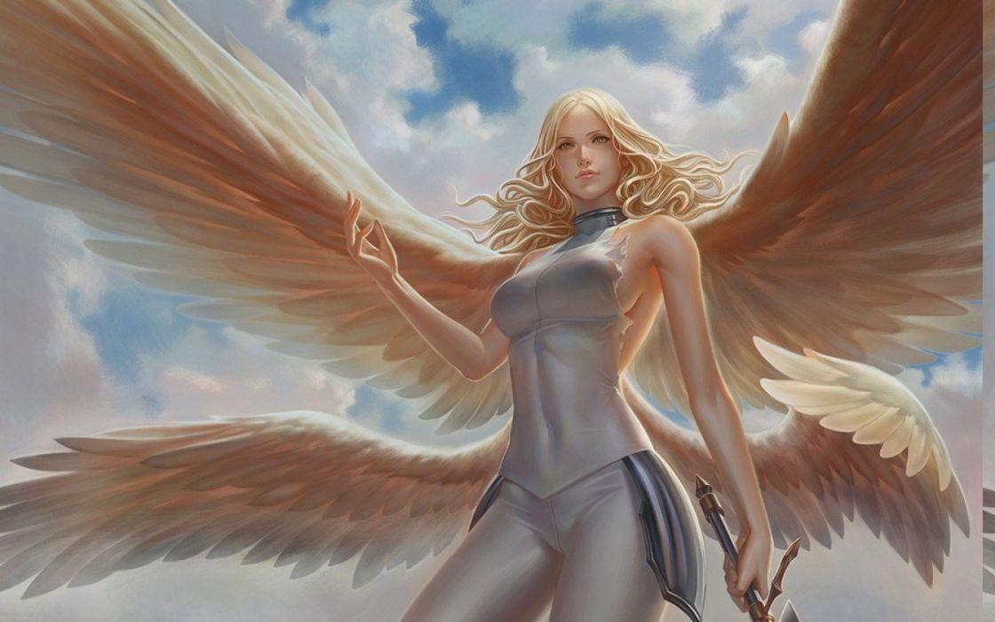Claymore (anime) digital art sexy anime sword teresa wings wallpaper