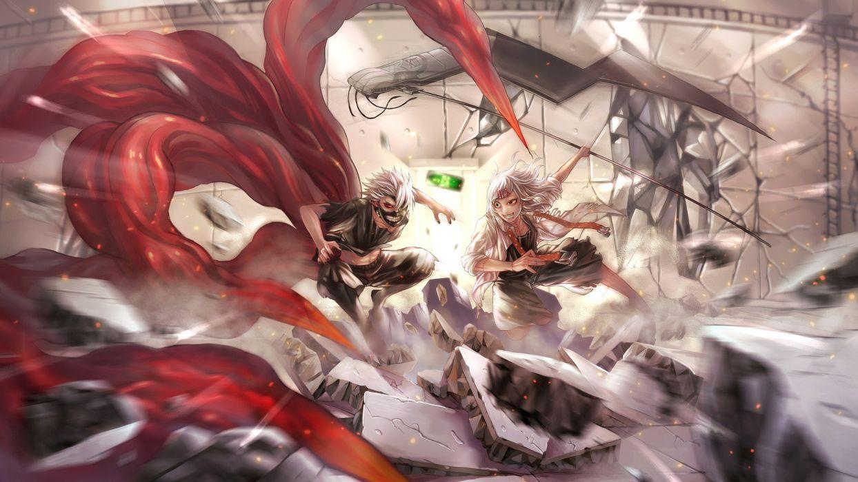 Kaneki Ken Tokyo Ghoul anime wallpaper