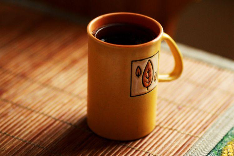 coffee Morning tea yellow wallpaper