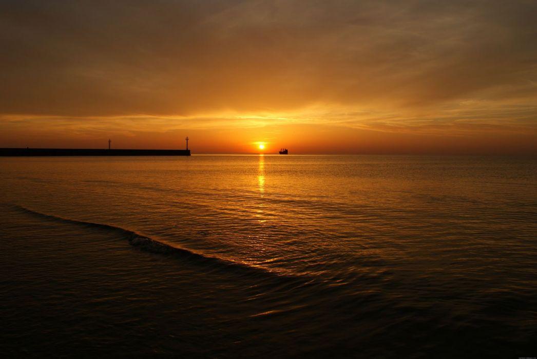 beautiful sunrise nature wallpaper