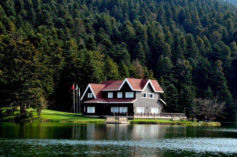golcuk bolu landscape turkey beauty lake nature tree forest wallpaper