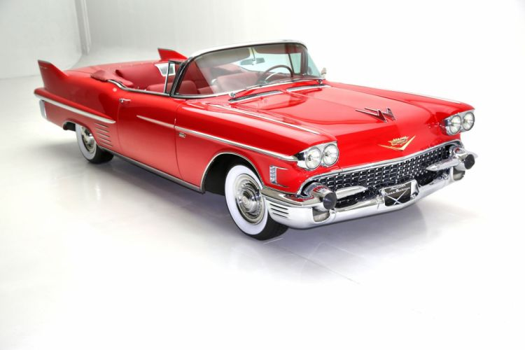 1958 cadillac series-62 convertible cars classic red wallpaper