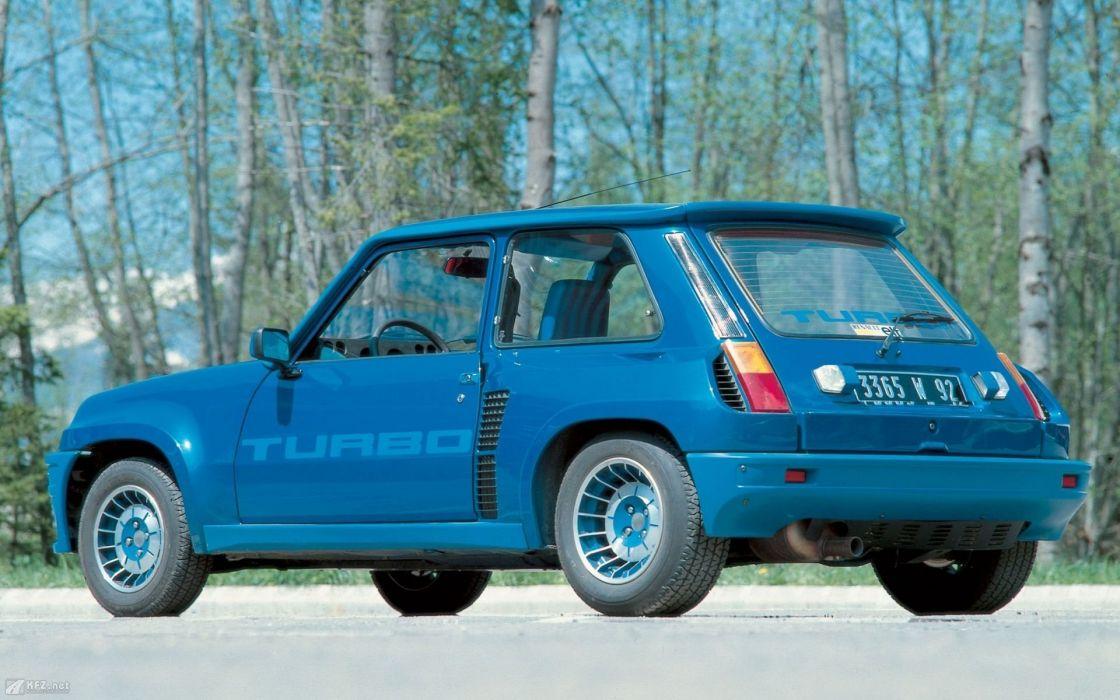 renault 5 scenic azul coche frances wallpaper