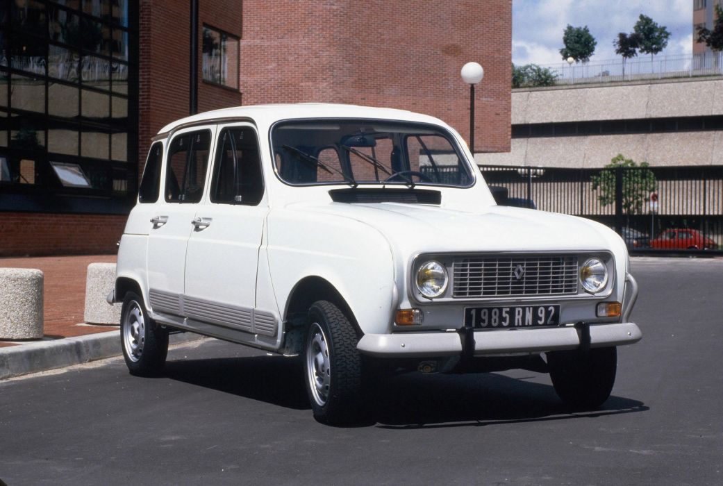 renault 4 blanco coche frances wallpaper
