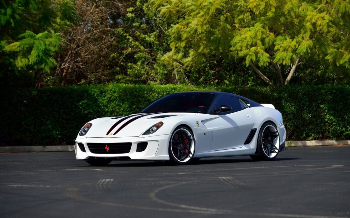 2009 Ferrari 599 GTB Vorsteiner Edition cars white modified wallpaper