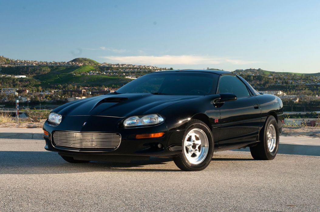 2000 Chevy Camaro cars black wallpaper