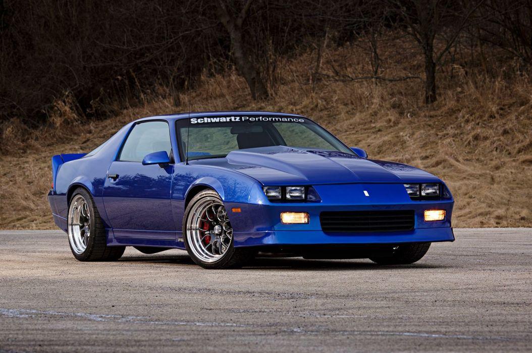 Chevrolet Camaro cars blue 1989 wallpaper