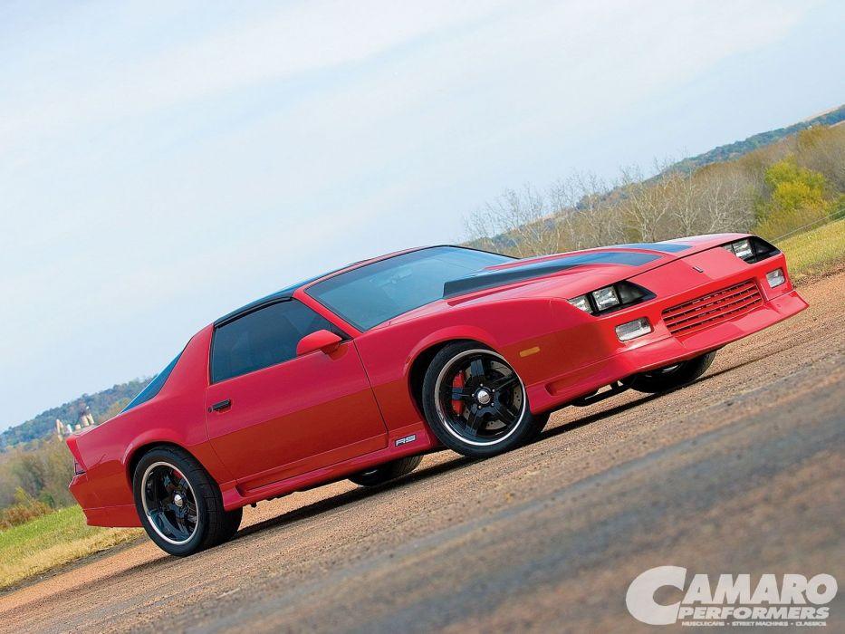 Chevrolet Camaro cars red 1992 wallpaper