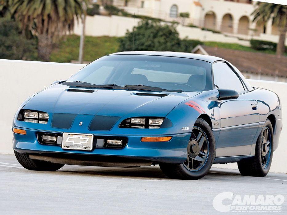 Chevrolet Camaro cars blue 1994 wallpaper