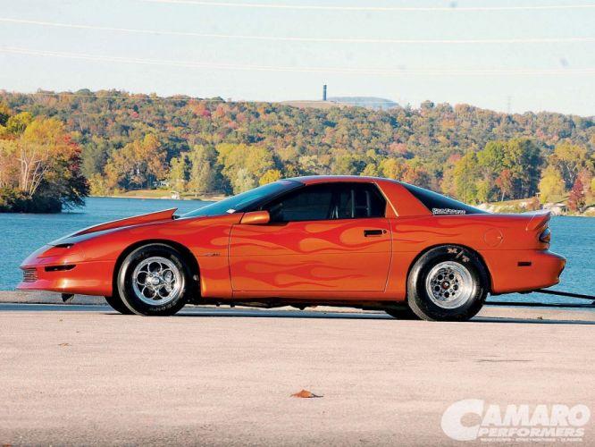 Chevrolet Camaro cars orange 1994 wallpaper