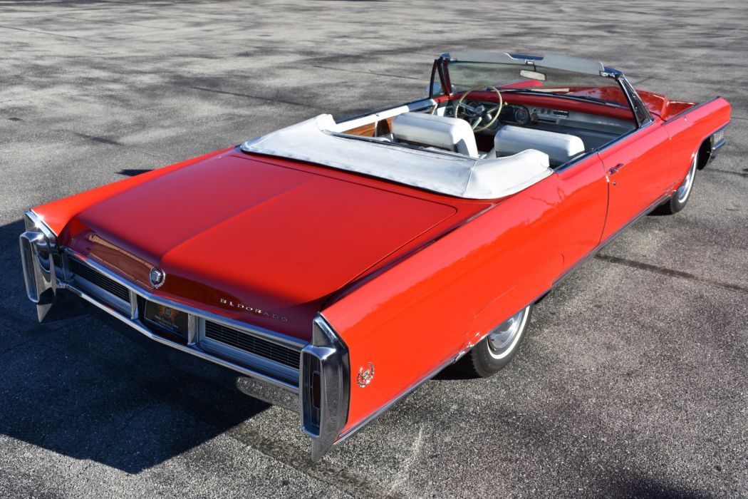 1965 CADILLAC ELDORADO CONVERTIBLE cars red classic  wallpaper