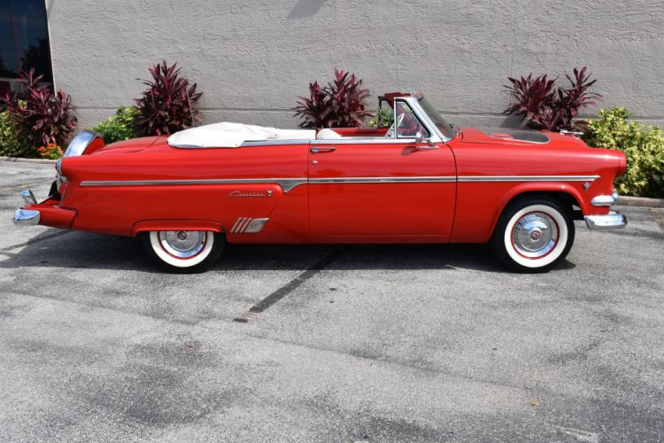 1954 FORD FAIRLANE SUNLINER convertible cars red classic wallpaper