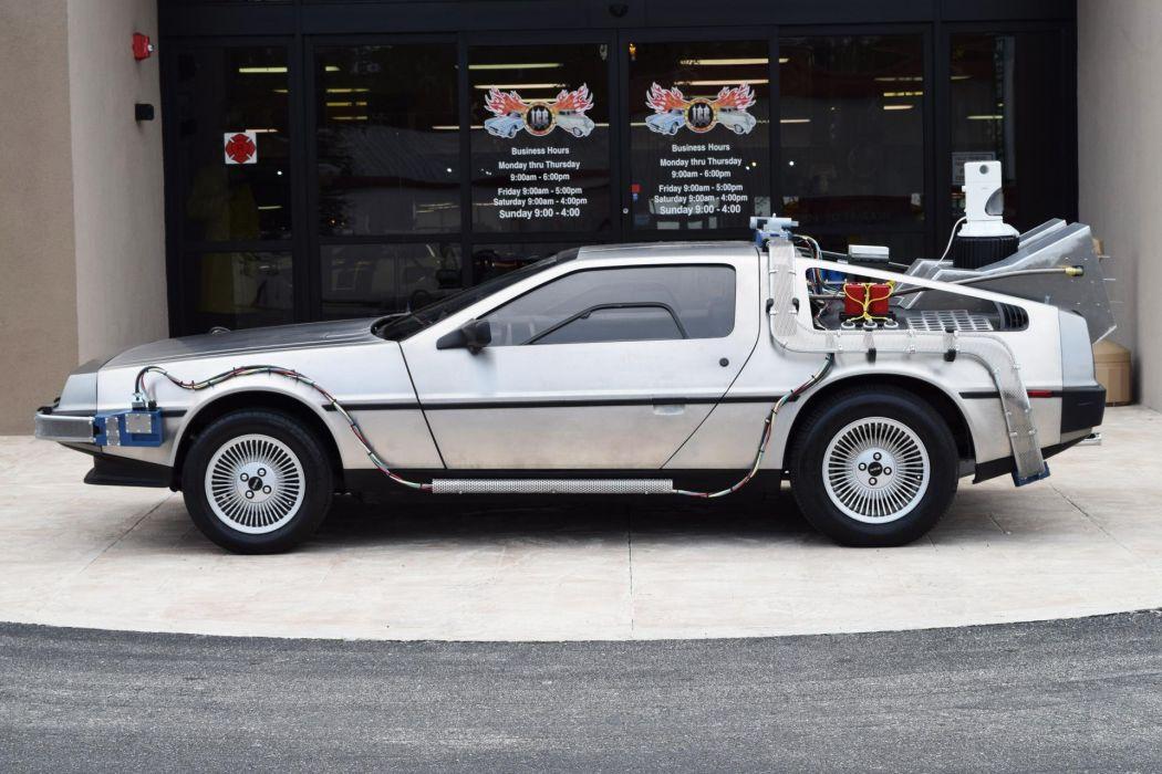 1981 Delorean DMC-12 Time Machine cars movie wallpaper