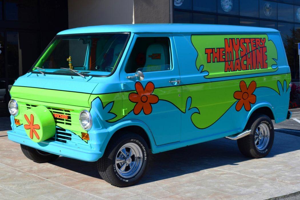 1972 MOVIE CARs SCOOBY DOO MYSTERY MACHINE van wallpaper