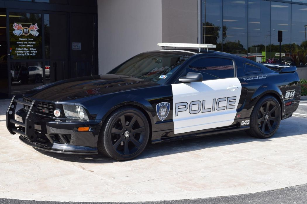 2005 MOVIE CARs saleen ford mustang police TRANSFORMERS BARRICADE desepticon wallpaper