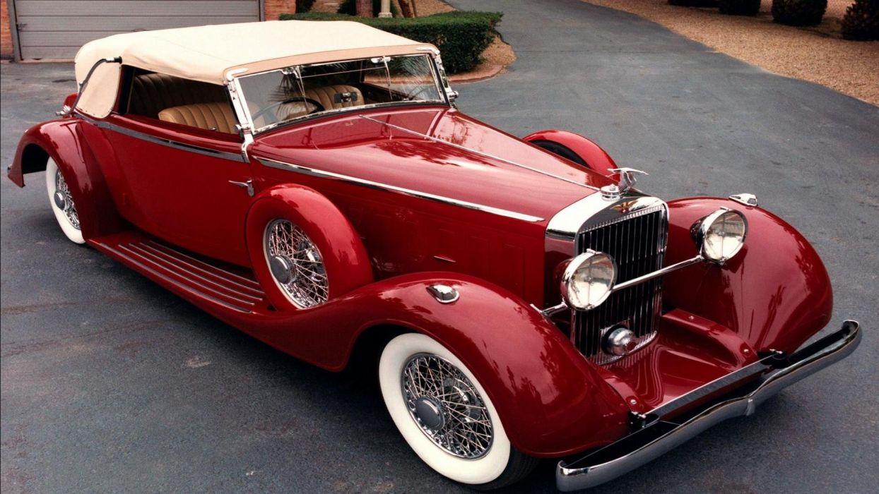 hispano suiza coche antiguo rojo wallpaper
