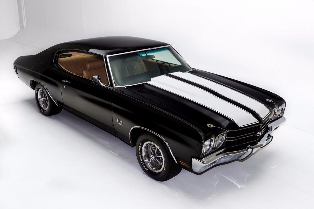 1970 chevrolet chevelle (ss) 396 cars black wallpaper