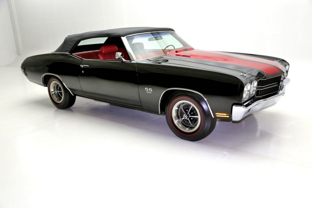 1970 chevrolet chevelle (ss) convertible cars black wallpaper