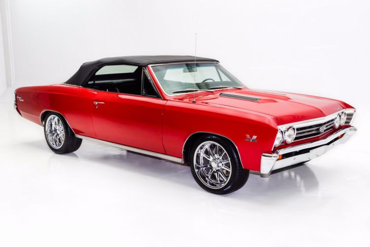 1967 chevrolet chevelle (ss) convertible 396 cars red wallpaper