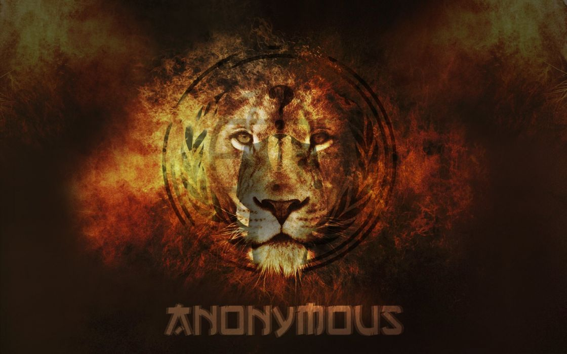 lion-anonymous-abstrate-flames-hack-anonimity-jungle wallpaper