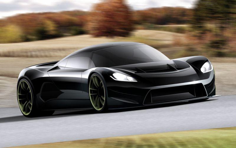 concepto auto deportivo negro wallpaper