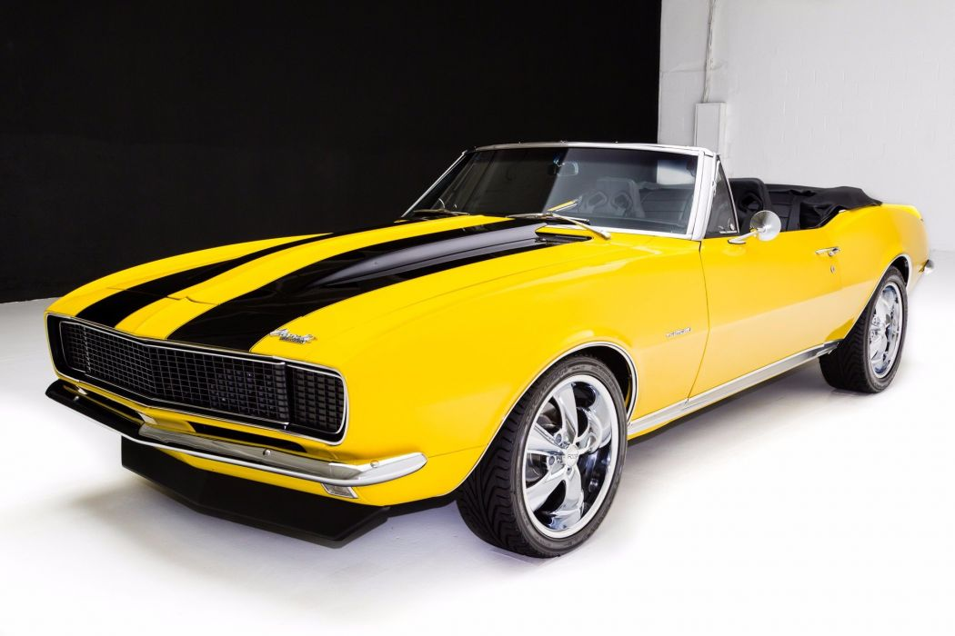 1967 chevrolet camaro rs-ss cars convertible yellow wallpaper