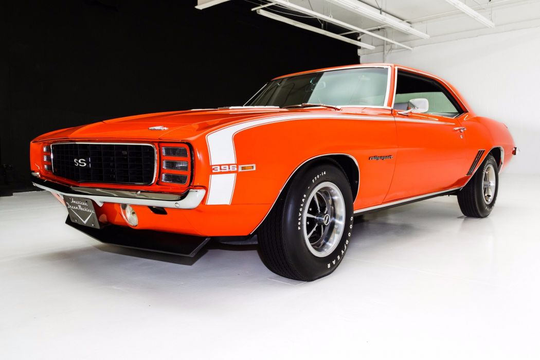 1969 chevrolet camaro rs-ss 396 cars convertible orange wallpaper