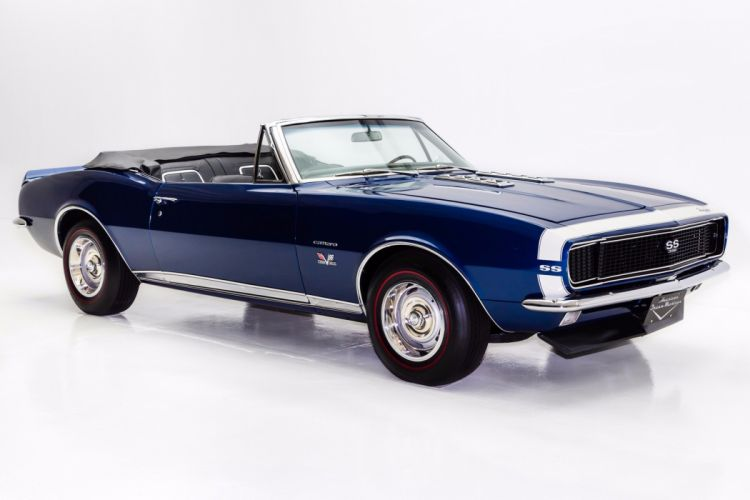 1967 chevrolet camaro rs-ss 396 cars convertible convertibles blue wallpaper