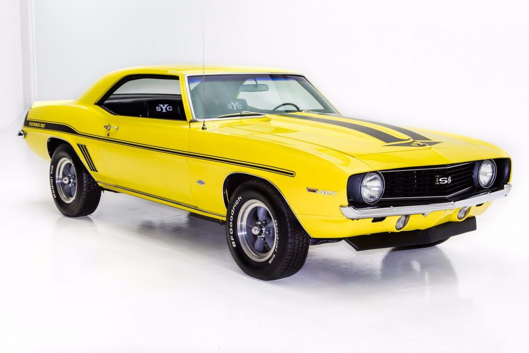 1969 chevrolet camaro yenko 427 cars yellow wallpaper