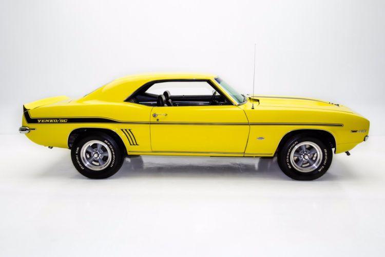 1969 chevrolet camaro yenko 427 cars yellow wallpaper