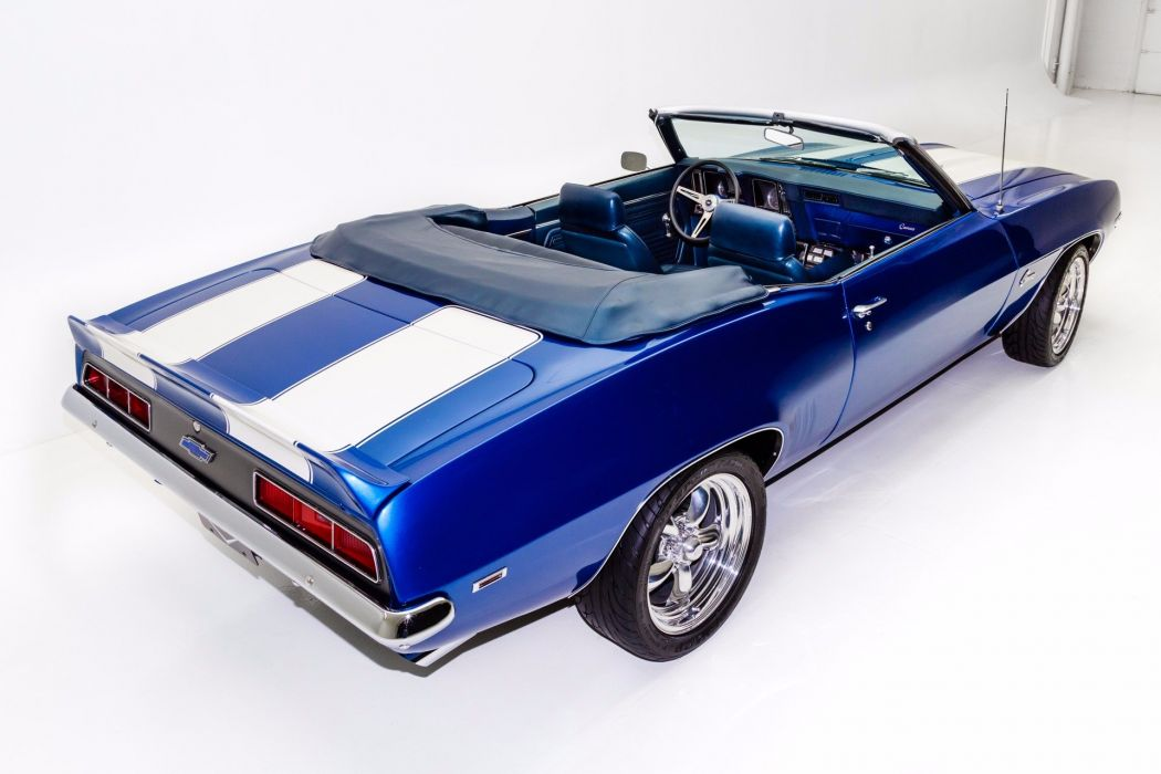 1969 chevrolet camaro 396 cars convertible blue wallpaper