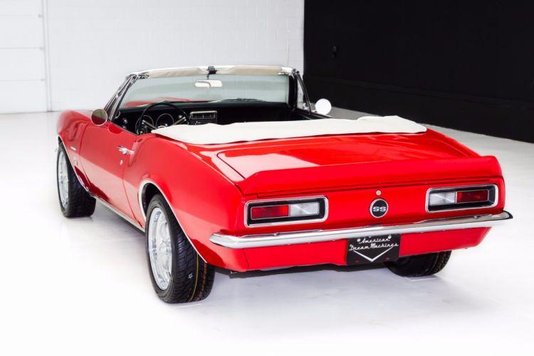 1967 chevrolet camaro 350 (ss) convertible red wallpaper