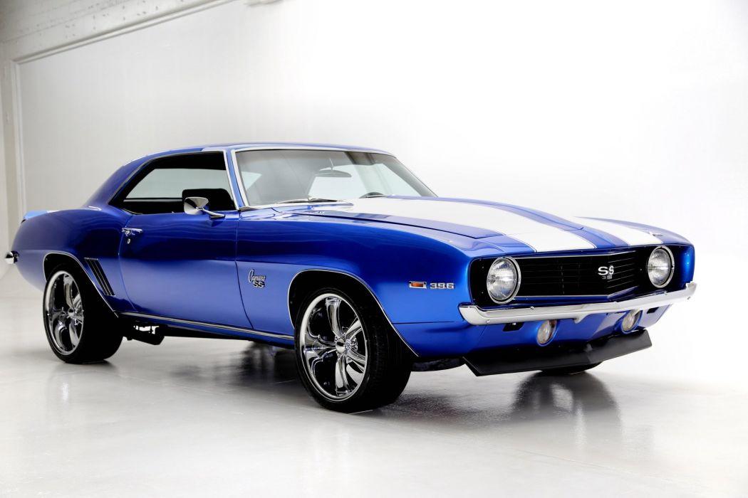 1969 Chevrolet Camaro 396 Ss Blue Wallpaper 1920x1280