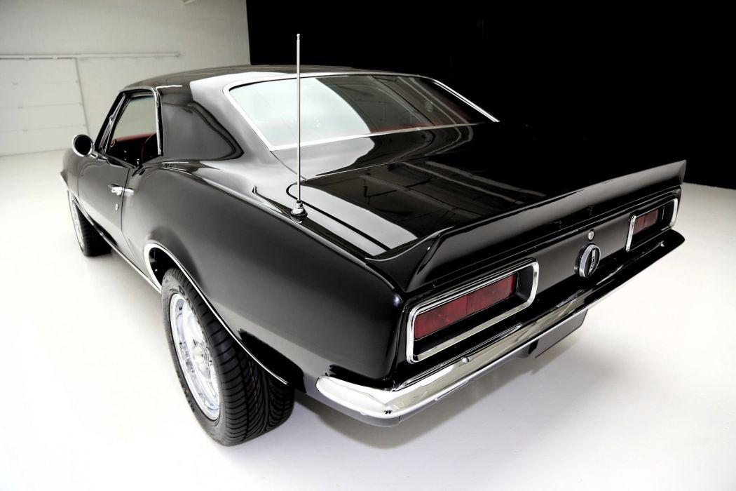 1967 chevrolet camaro 327 (rs) black wallpaper