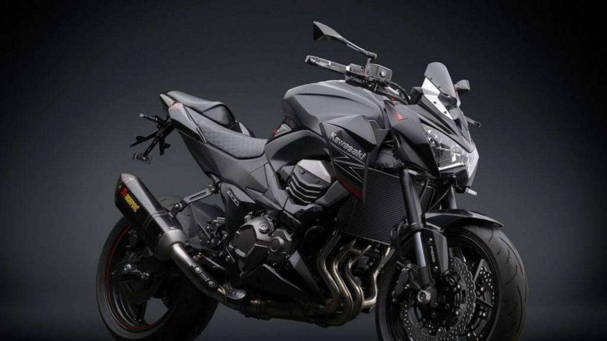 moto kawasaki negra japonesa wallpaper