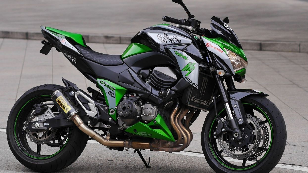 kawasaki monster z800 moto wallpaper